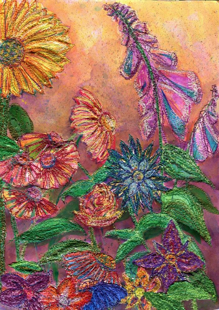 The final artwork - Summer Flowers