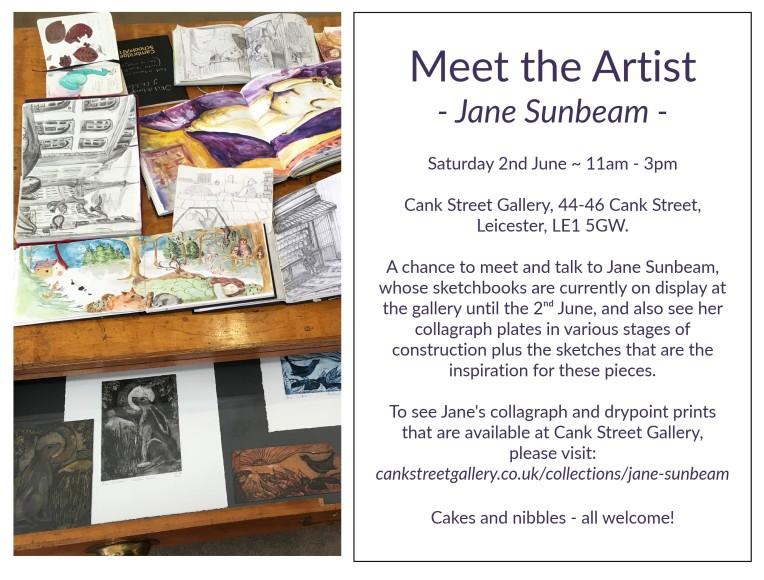 Meet the Artist Jane Sunbeam @Cank Street Gallery